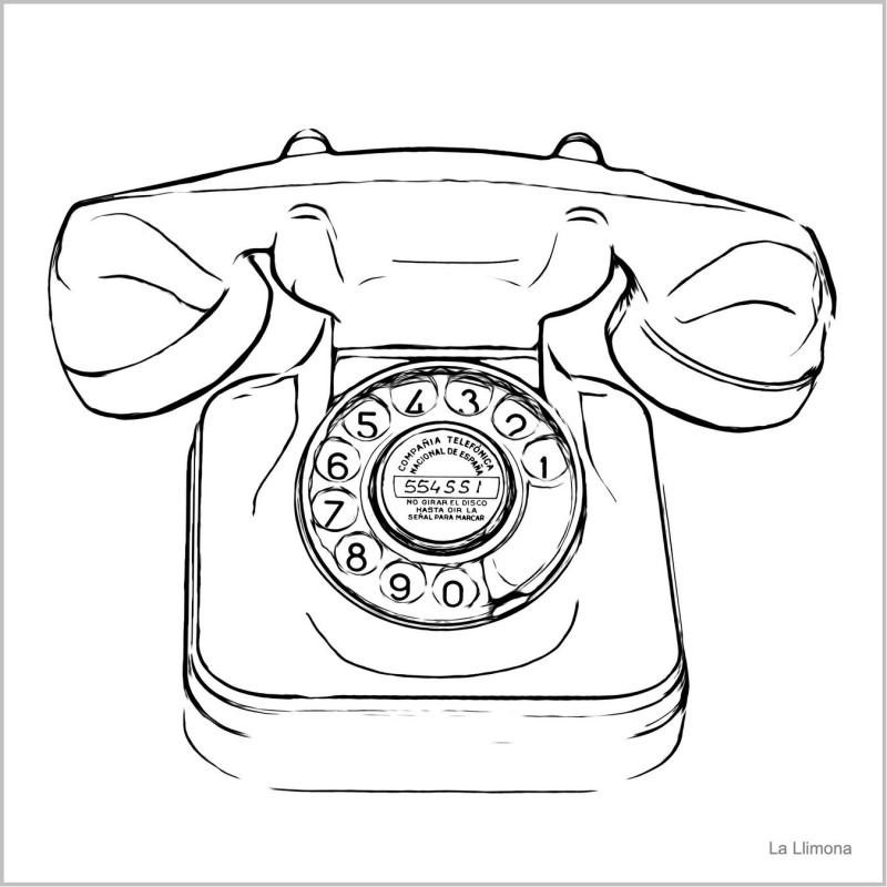 Teléfono L00020 · Láminas decorativas · La Llimona