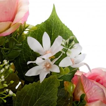 Ramo peonías y rosas artificiales rosadas 50 · Funerario · Ramos flores artificiales cementerio · La Llimona home