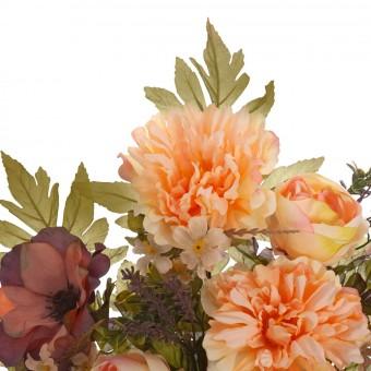 Ramo rosas, peonías y anemonas artificiales salmón 58 · Funerario · Ramos flores artificiales cementerio · La Llimona home