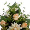 Ramo dalias y rosas artificiales crema 50 · Funerario · Ramos flores artificiales cementerio · La Llimona home