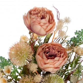 Ramo peonías y alliums artificiales té 52 · Funerario · Ramos flores artificiales cementerio · La Llimona home