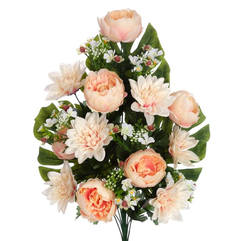 Ramo peonías y dalias artificiales salmón 60 · Funerario · Ramos flores artificiales cementerio · La Llimona home