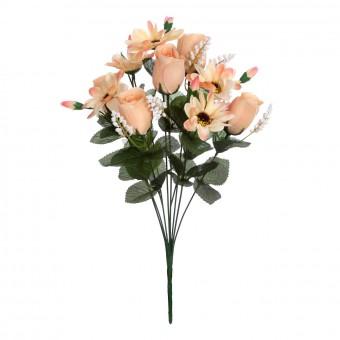 Ramo rosas y gerberas salmón 43 · Ramos flores artificiales · La Llimona home