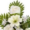 Ramo liliums, rosas y alliums artificiales blanco 52 · Funerario · Ramos flores artificiales cementerio · La Llimona home