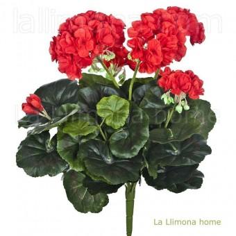 Planta geranio artificial rojo