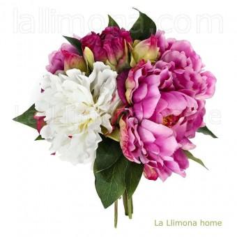 Ramo peonias artificiales malva · Ramos flores artificiales