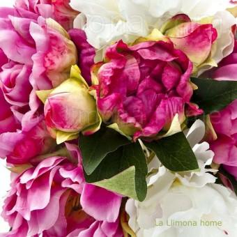 Ramo peonias artificiales malva · Ramos flores artificiales 2