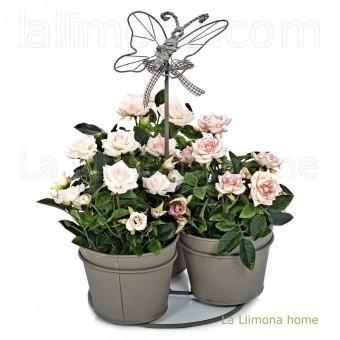Conjunto metal terra mariposa 3 macetas 35 · Macetas y jardín 2 · La Llimona home