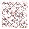 Complementos florales. Estructura rejilla cuadrada roja 20 · Complementos florales