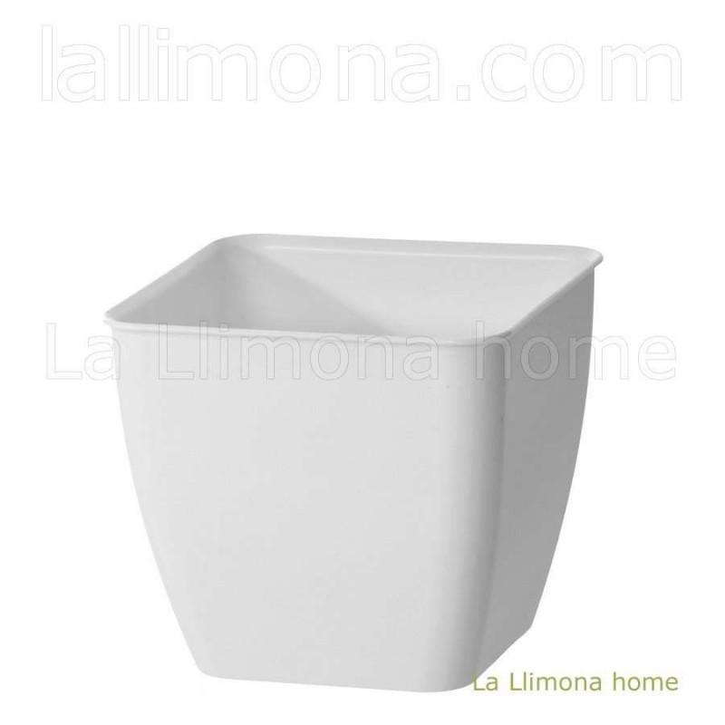 Maceta plástico square blanca 13 · Macetas y jardín