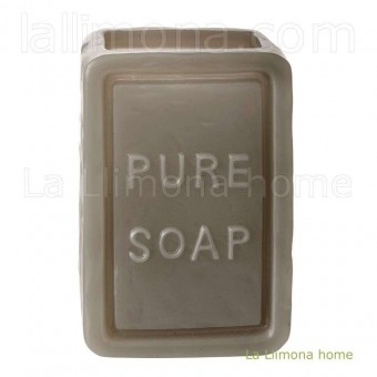 Vaso baño soap rectangular gris