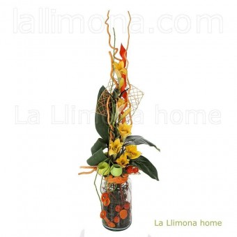 Estructura rejilla cuadrada verde 20 · Complementos florales 4 · La Llimona home