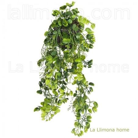 Planta colgante artificial sweet pea. Alto: 45 cms.