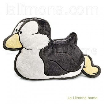 Nici pingüino gris oscuro cojín figura 42 · Nici peluches y complementos
