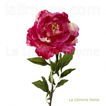 Flor peonia artificial cereza 80 · Flores artificiales