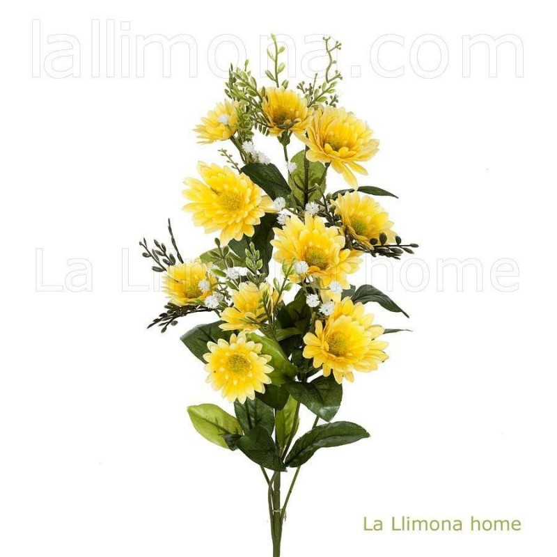 Rama artificial flores margaritas amarillas 78 · Flores artificiales