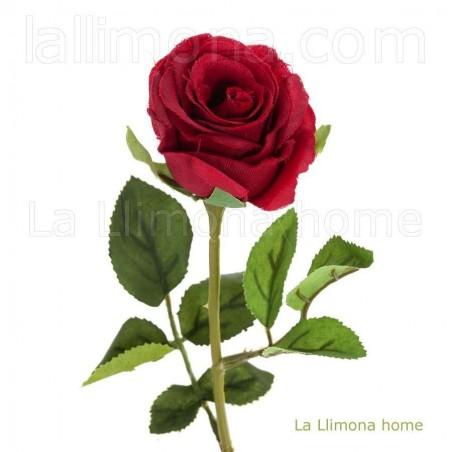 Flor artificial rosa jade rojo. Alto: 68 cms.