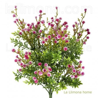 Planta bush artificial gypsophila fucsia