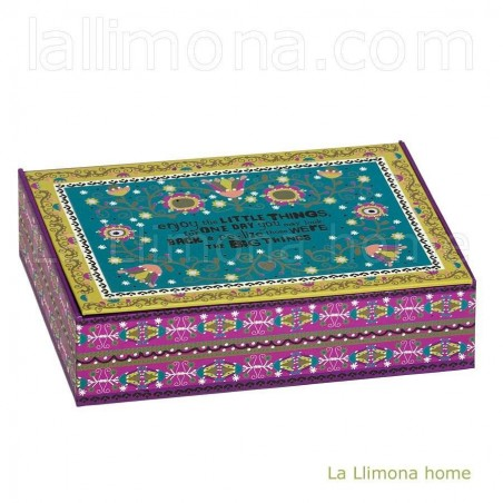 Caja Natural Life 'Enjoy the little things for one day'. Alto: 6.50 cms.