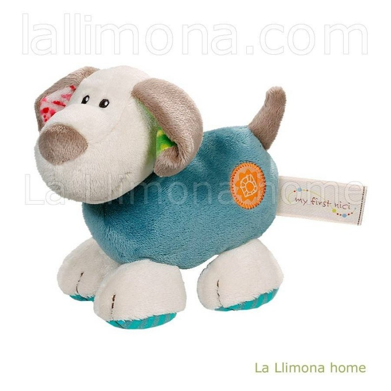 Nici my first toy perro Fino azul peluche 14 · Peluches y complementos