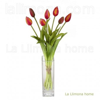 Ramo atado tulipanes artificiales cereza 43 · Ramos flores artificiales · La Llimona home