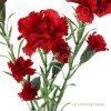 Flores artificiales. Rama clavellina artificial roja 60 · Flores artificiales 3