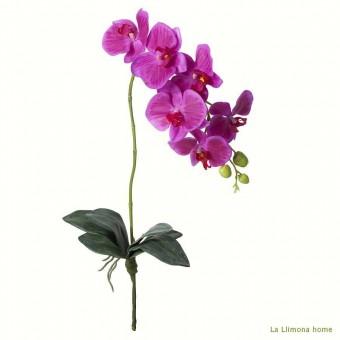 Rama orquídea artificial latex fucsia hojas 85 · Flores artificiales 2