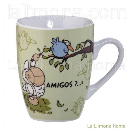Taza Nici 'Amigos'. Alto: 10.50 cms.